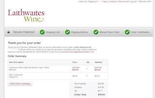 Laithwaites Wine Club Thank You Page