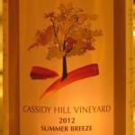 Cassidy Hill Vineyard Summer Breeze