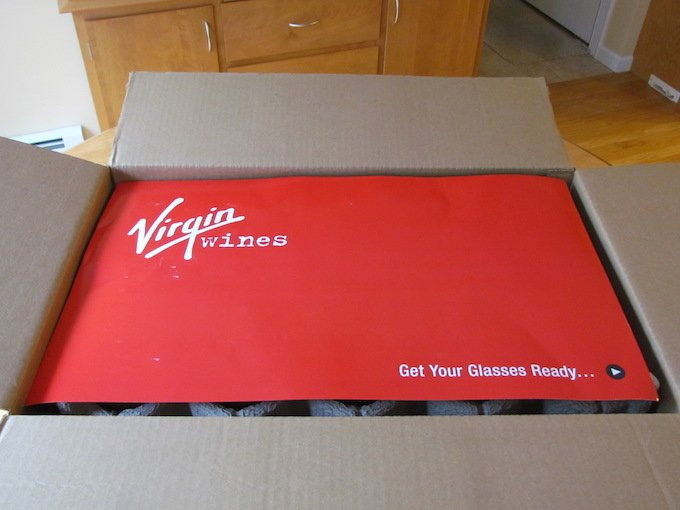 Virgin Wines Review Box First Opened
