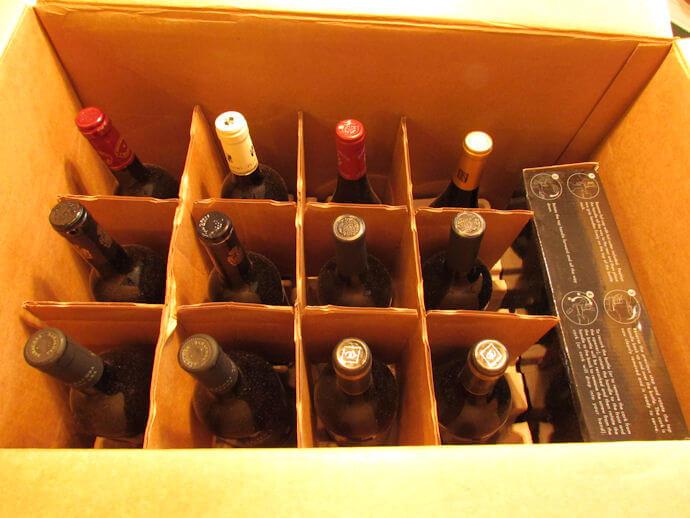 wsj wine club review bottles in box
