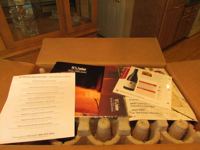wsj wine club review box contents