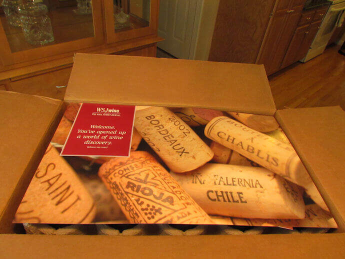 wsj wine club review box first opened