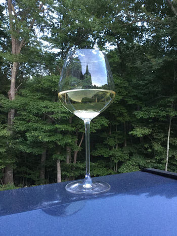 Chateau Ste Michelle Riesling Wine in Glass