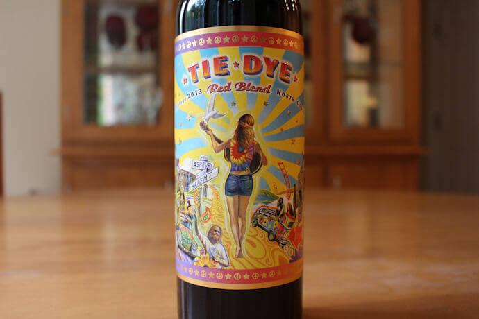 Tie Dye Red Blend Wine
