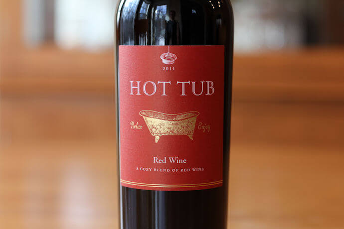 Hot Tub Red Wine