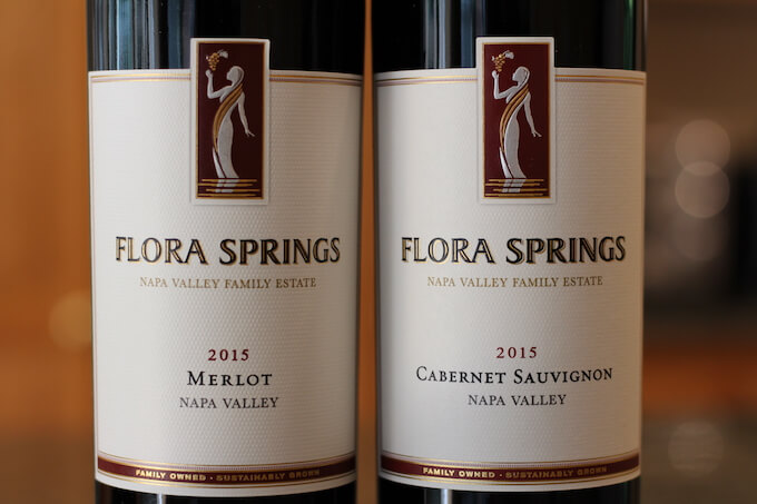 Flora Springs Merlot and Cabernet Sauvignon
