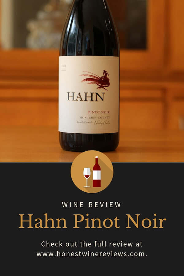 Hahn PInot Noir Review Pinterest Pin
