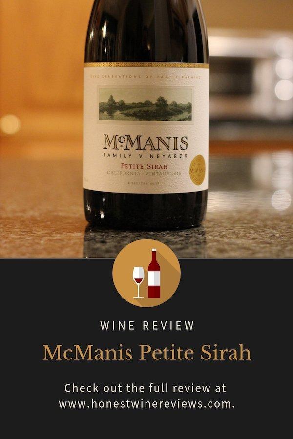 McManis Petite Sirah Review Pinterest Pin