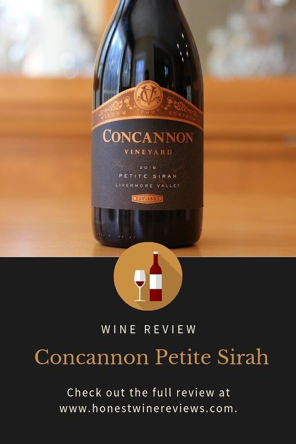 Concannon Petite Sirah Review Pinterest Pin
