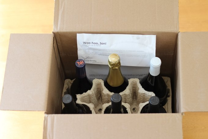 Naked Wines Top Inside Box